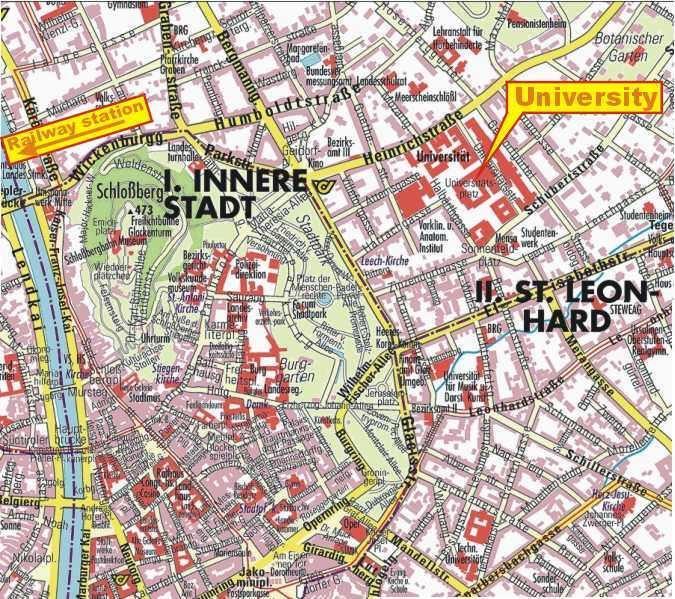 Map of Graz