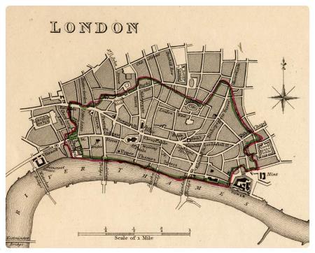 Cartina Con Monumenti Di Londra.La City Di Londra