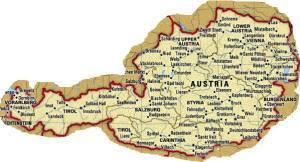 Cartina Stradale Austria.Austria Mappa Politica