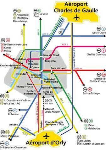 Parigi Cartina Aeroporti.Come Arrivare A Parigi