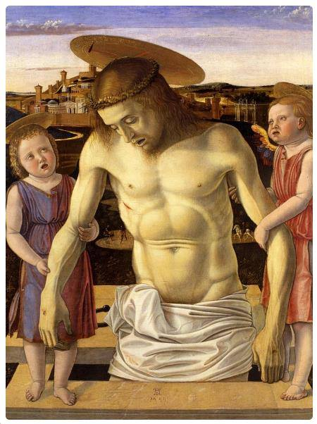 Cristo Morto Sorretto da due Angeli - Giovanni Bellini