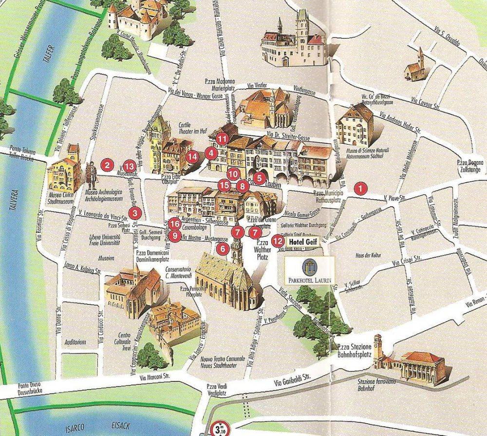 Bolzano Cartina.Mappa Di Bolzano Cartina Di Bolzano