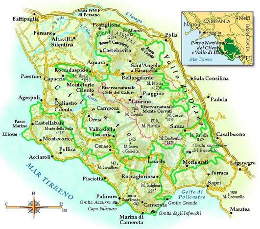 Cartina Italia Salerno.Mappa Cilento Cartina Del Cilento