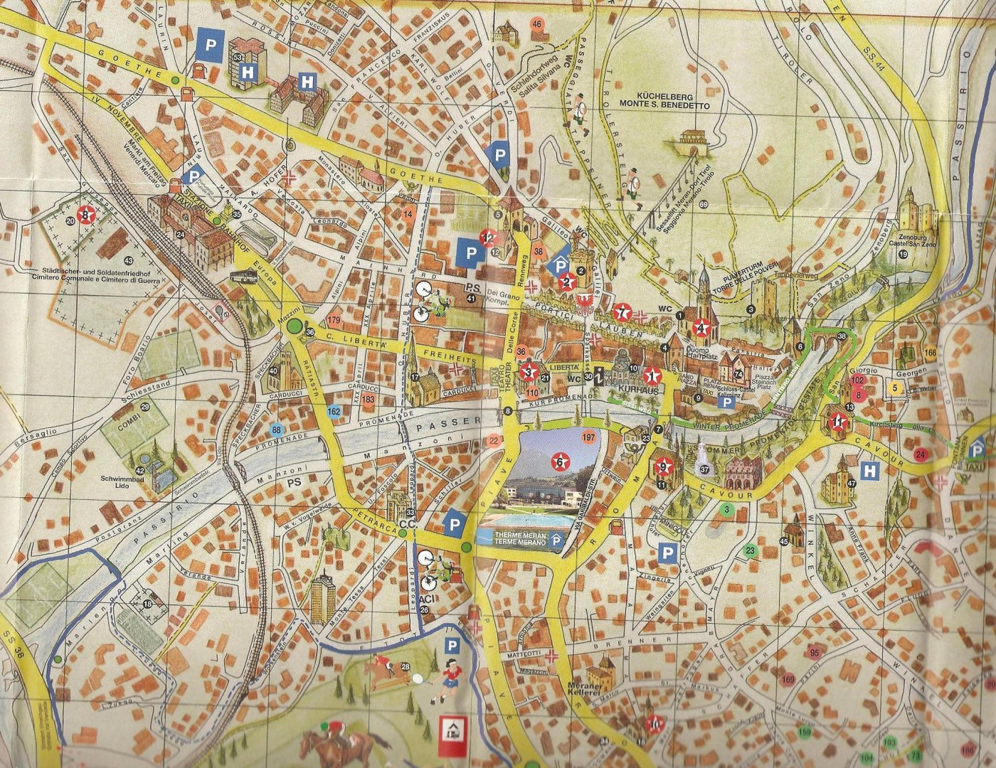 karte meran Karte von Meran   Stadtplan Meran