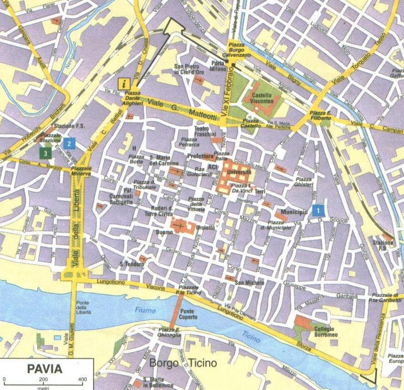 Pavia Cartina Lombardia.Mappa Di Pavia Cartina Di Pavia