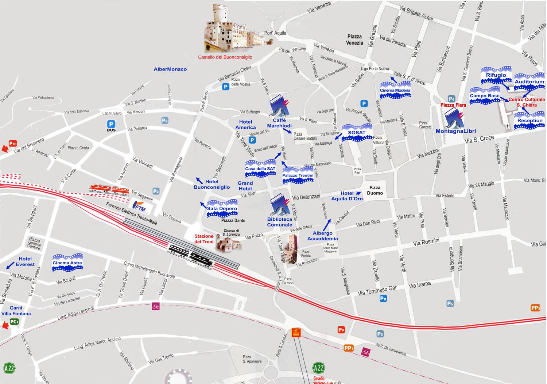 Karte Von Trente Stadtplan Trent