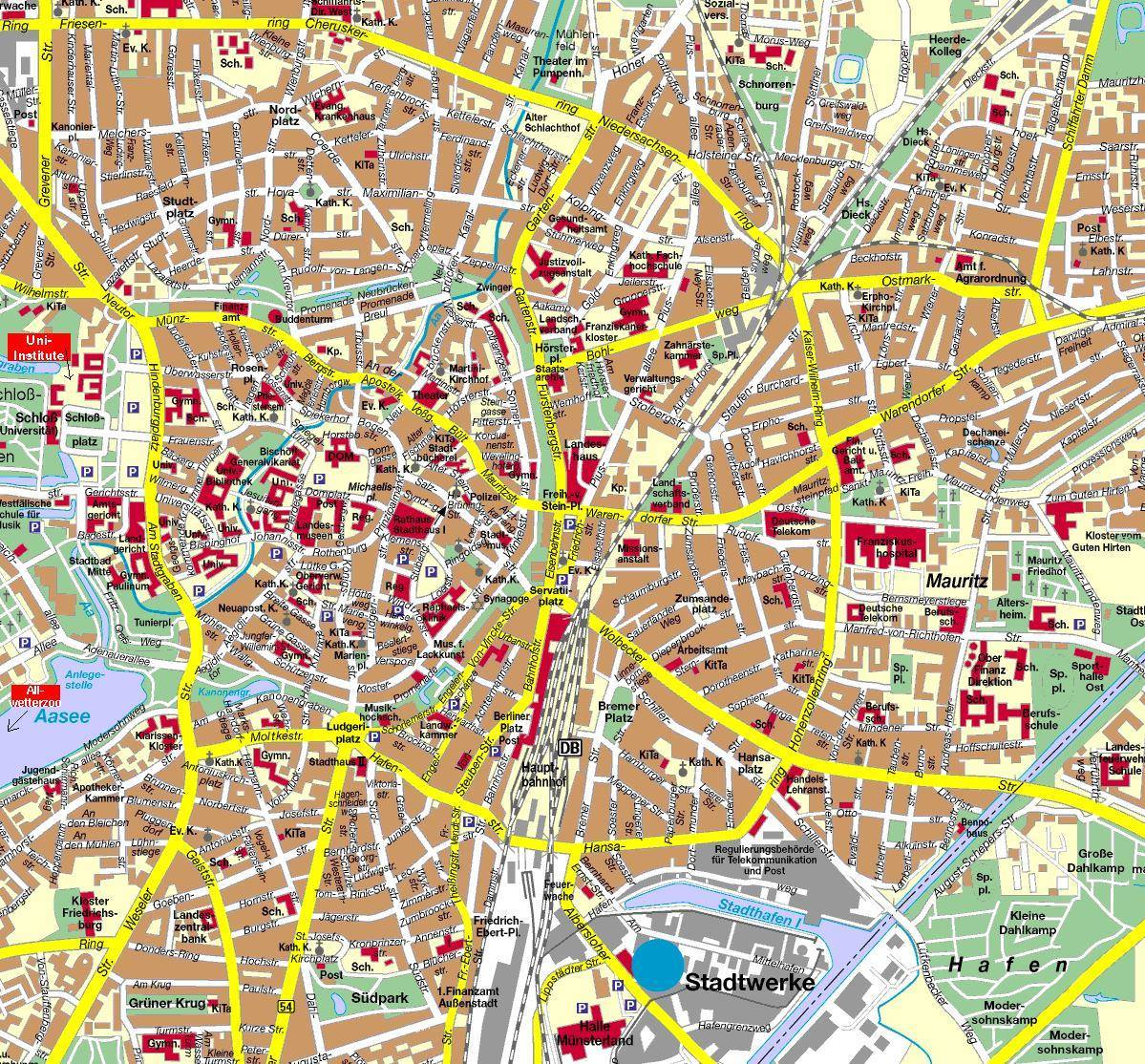 hanover mapa Mapa Hanover   Plano de Hanover hanover mapa
