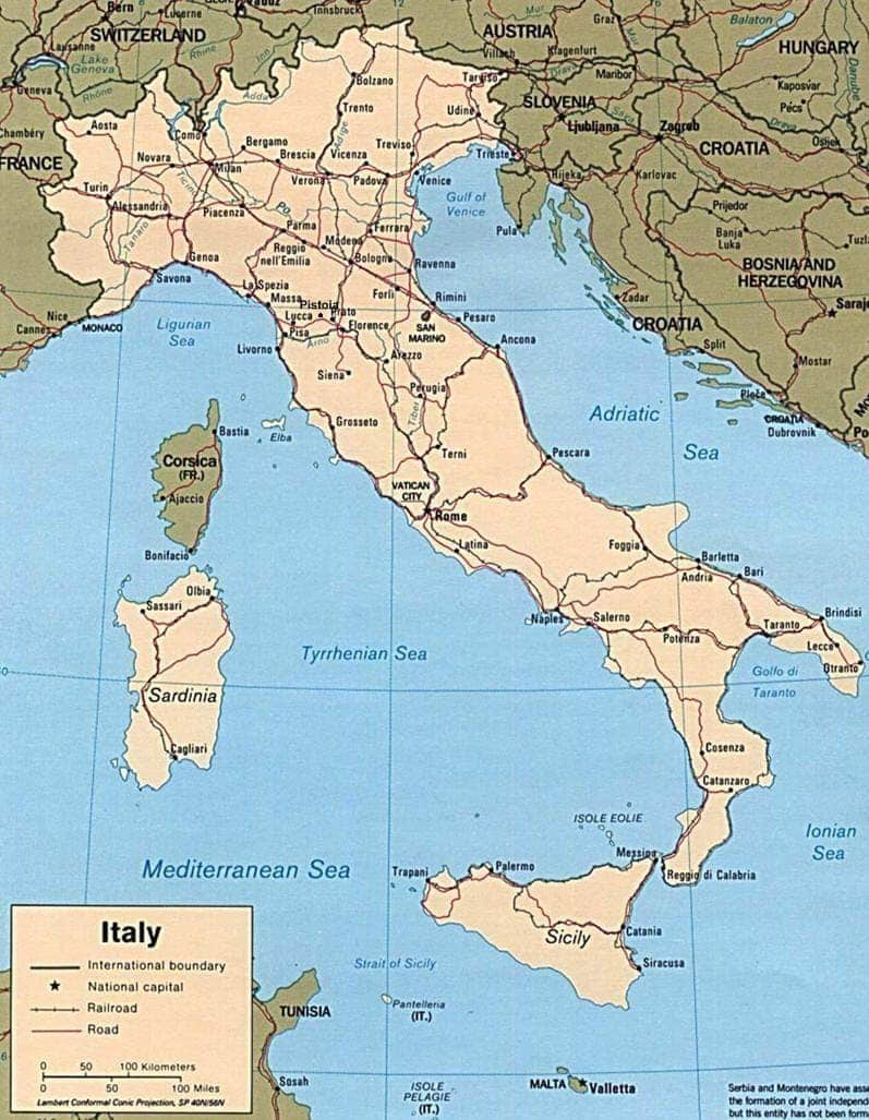 Cartina Italia Mappa.Mappa Dell Italia Cartina Italia