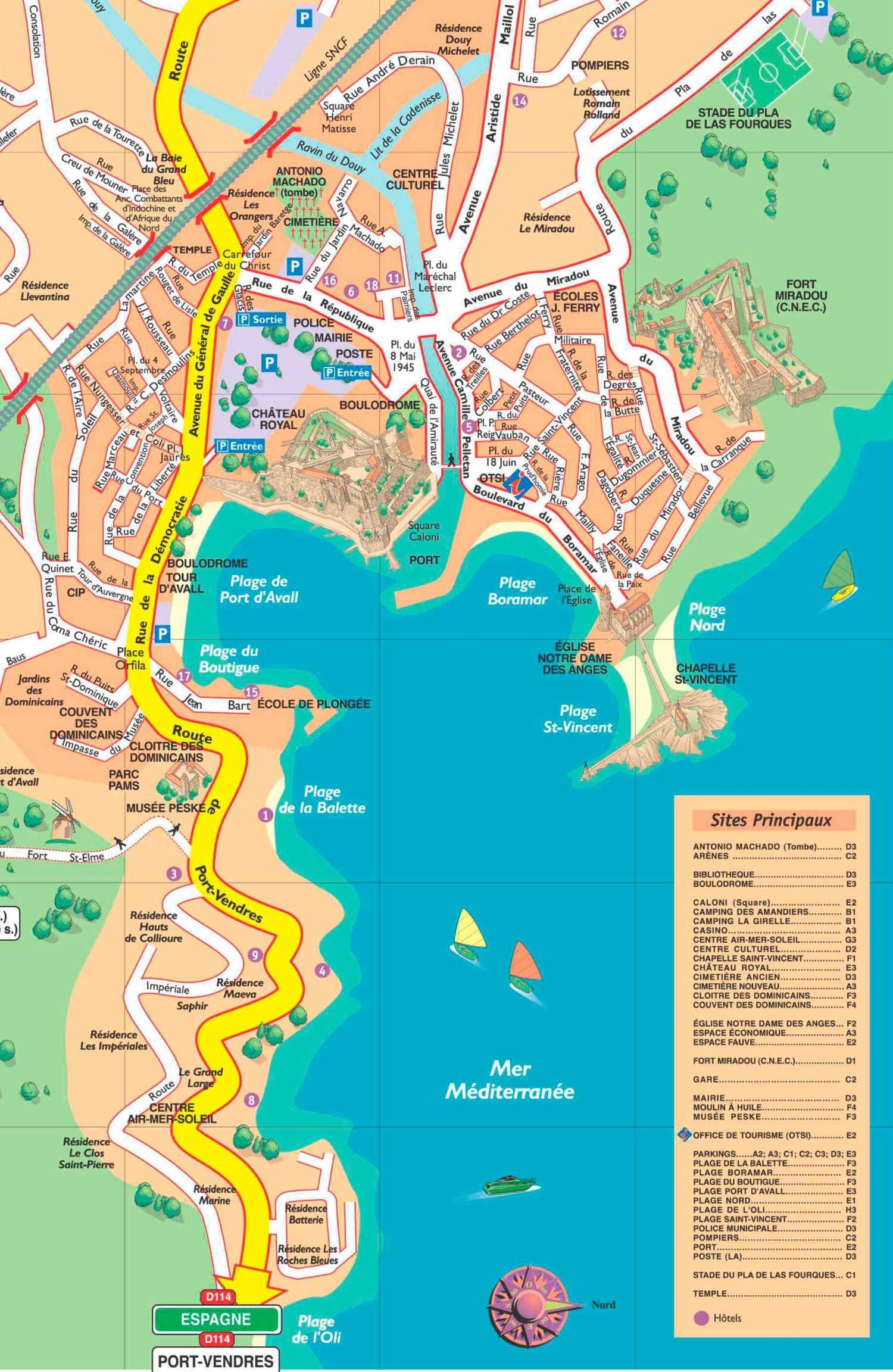 Karte Von Collioure