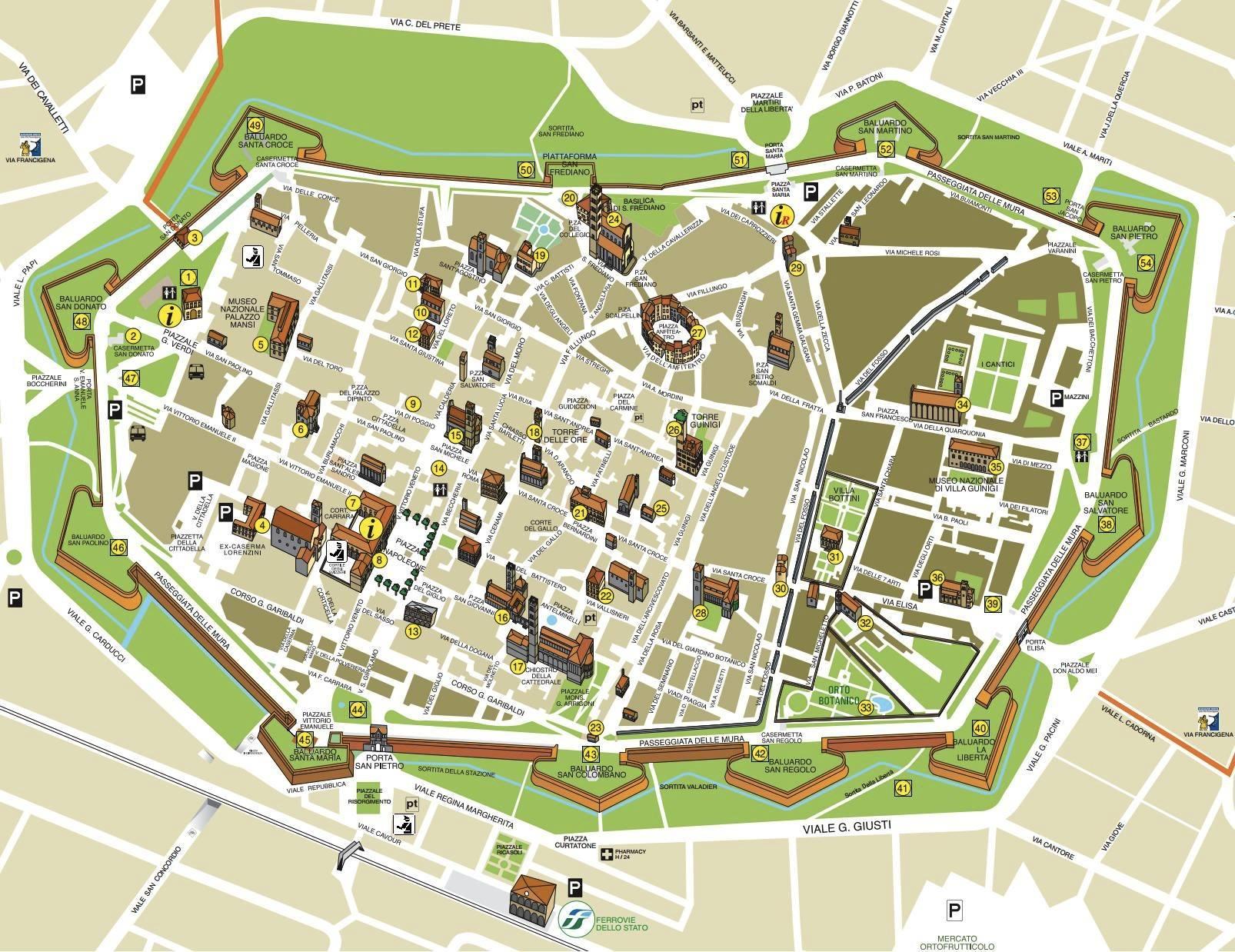 Cartina Italia Lucca.Mappa Di Lucca Cartina Di Lucca