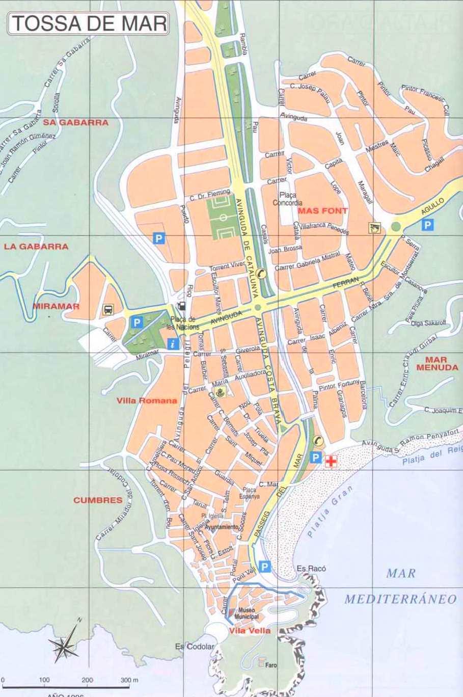 Cartina Jerez De La Frontera.Mappa Di Tossa De Mar Cartina Di Tossa De Mar