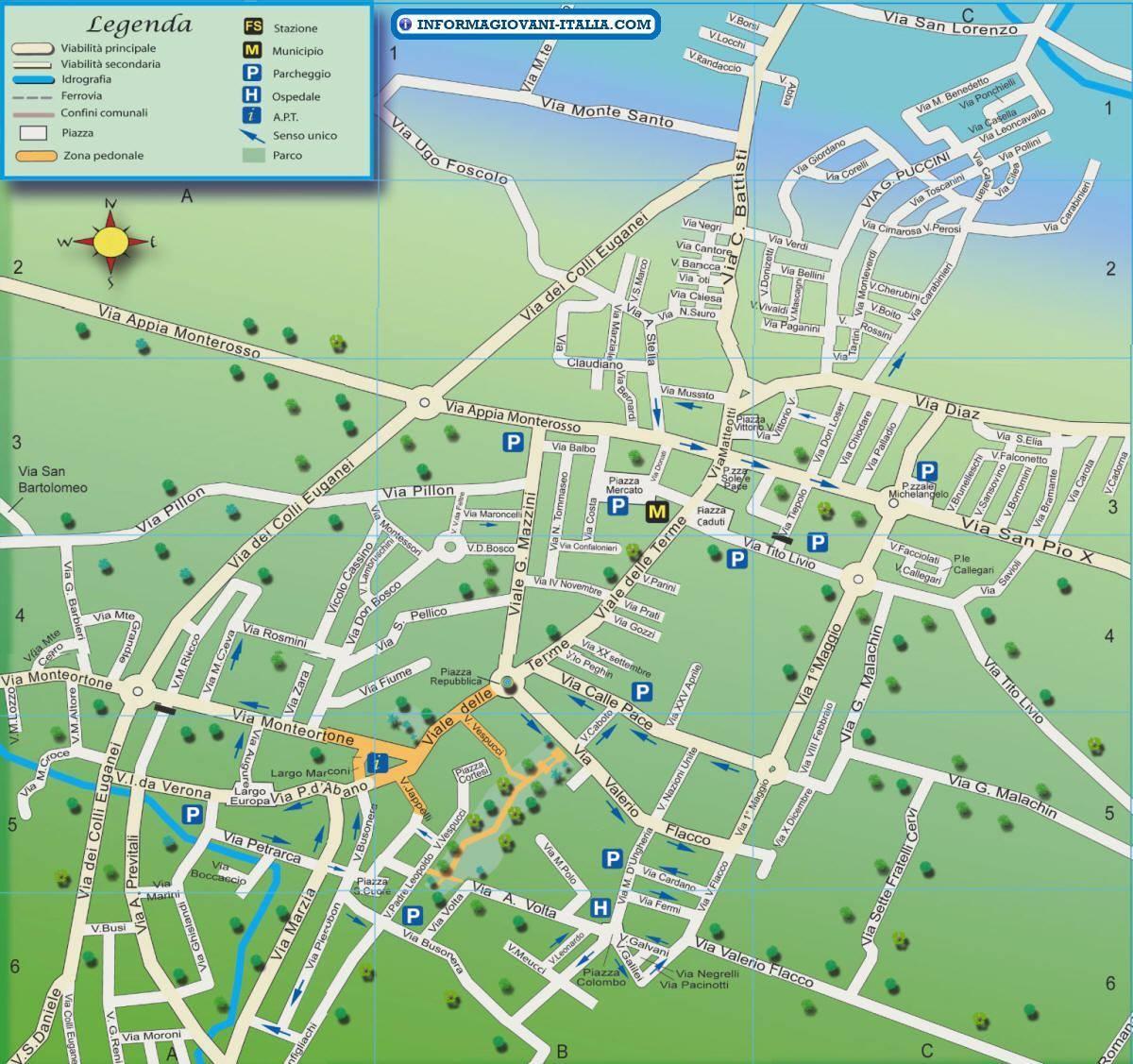 Abano Terme Italy  city photos gallery : Mapa Abano Terme Plano de Abano Terme