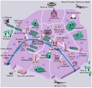 Parigi Cartina Arrondissement.Quartieri Di Parigi Gli Arrondissement
