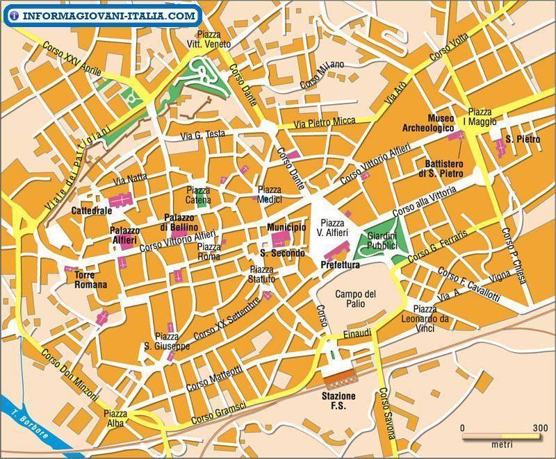 Cartina Italia Asti.Mappa Di Asti Cartina Di Asti