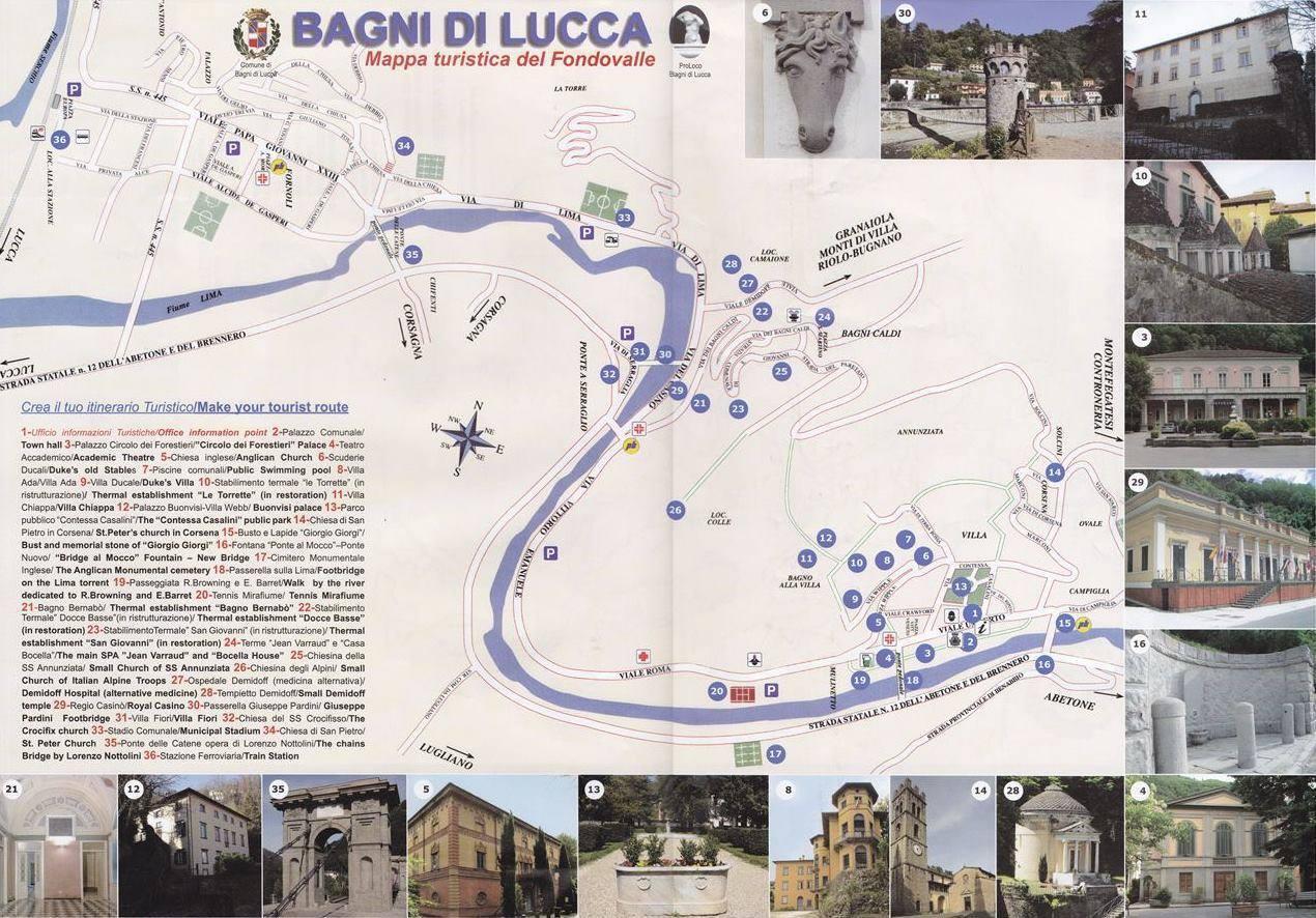 carte de bagni di lucca karte von bagni di lucca mapa bagni di lucca map of bagni di lucca