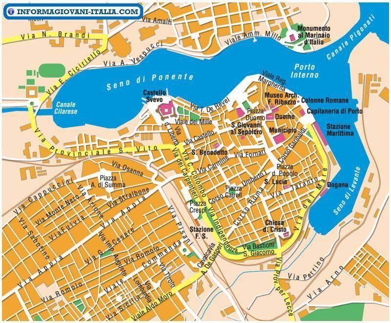 Brindisi Cartina Geografica.Mappa Brindisi Cartina Di Brindisi