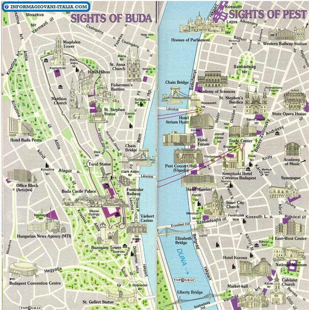 Cartina Geografica Europa Budapest.Mappa Di Budapest Cartina Di Budapest