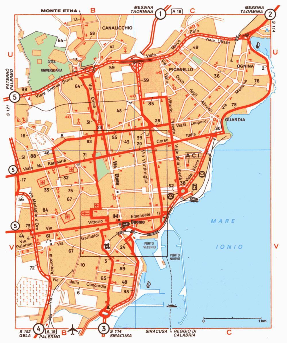 Cartina Italia Javascript.Mappa Di Catania Cartina Di Catania