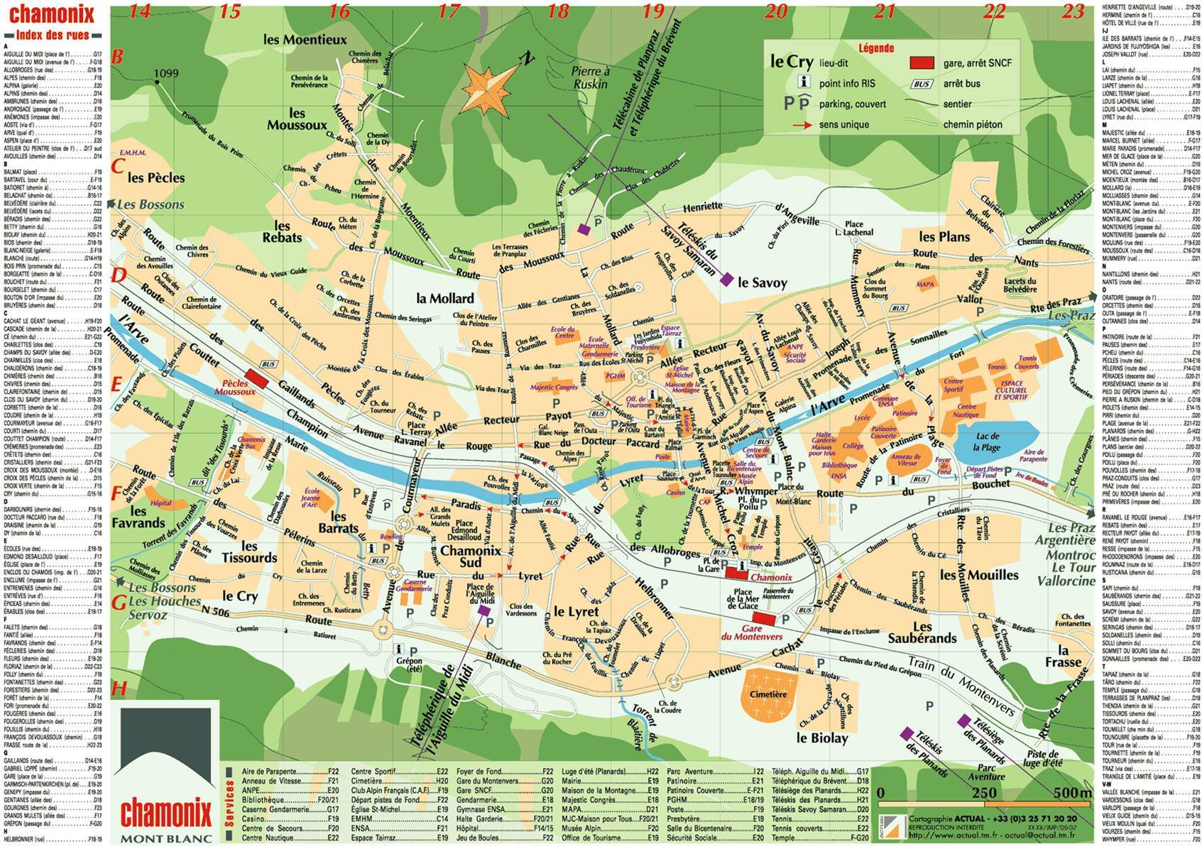 Chamonix Cartina Geografica.Mappa Di Chamonix Cartina Di Chamonix