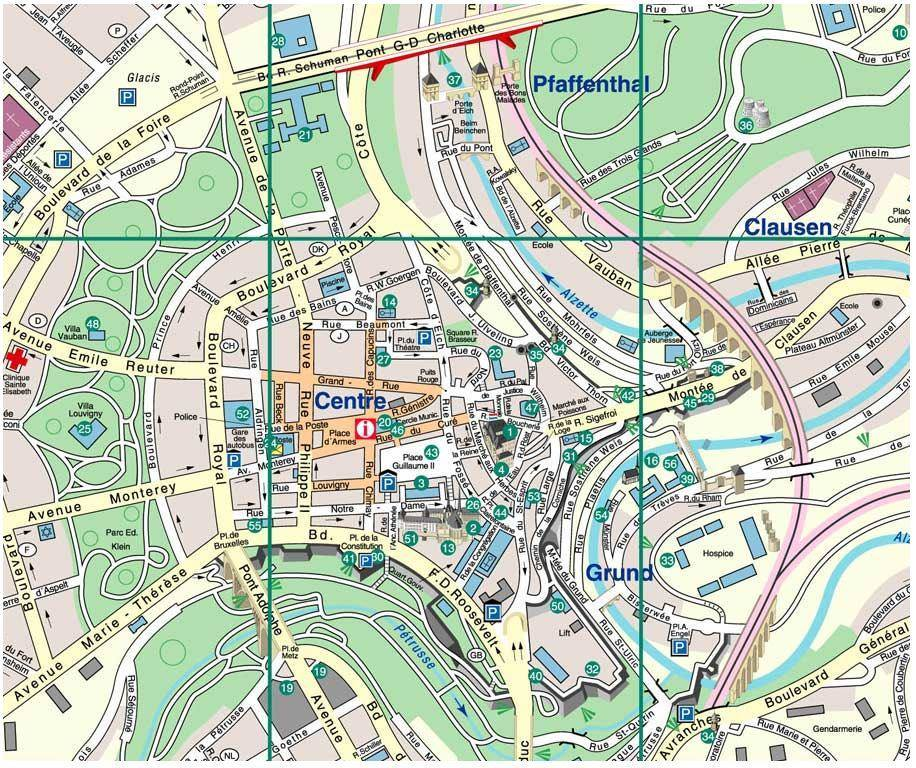 Plan De Luxembourg Ville