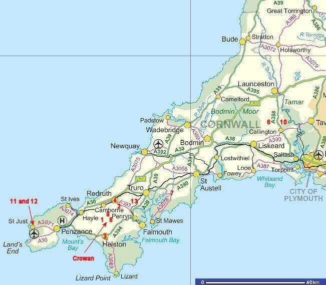 Cartina Cornovaglia.Mappa Cornovaglia Cartina Della Cornovaglia