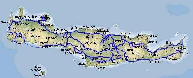 Cartina Creta.Mappa Di Creta Cartina Di Creta