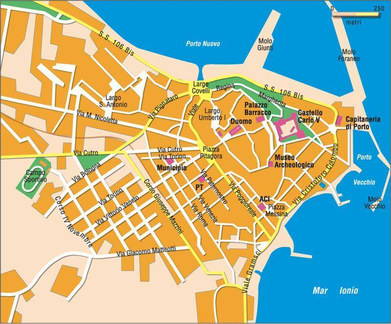 Map Of Crotone