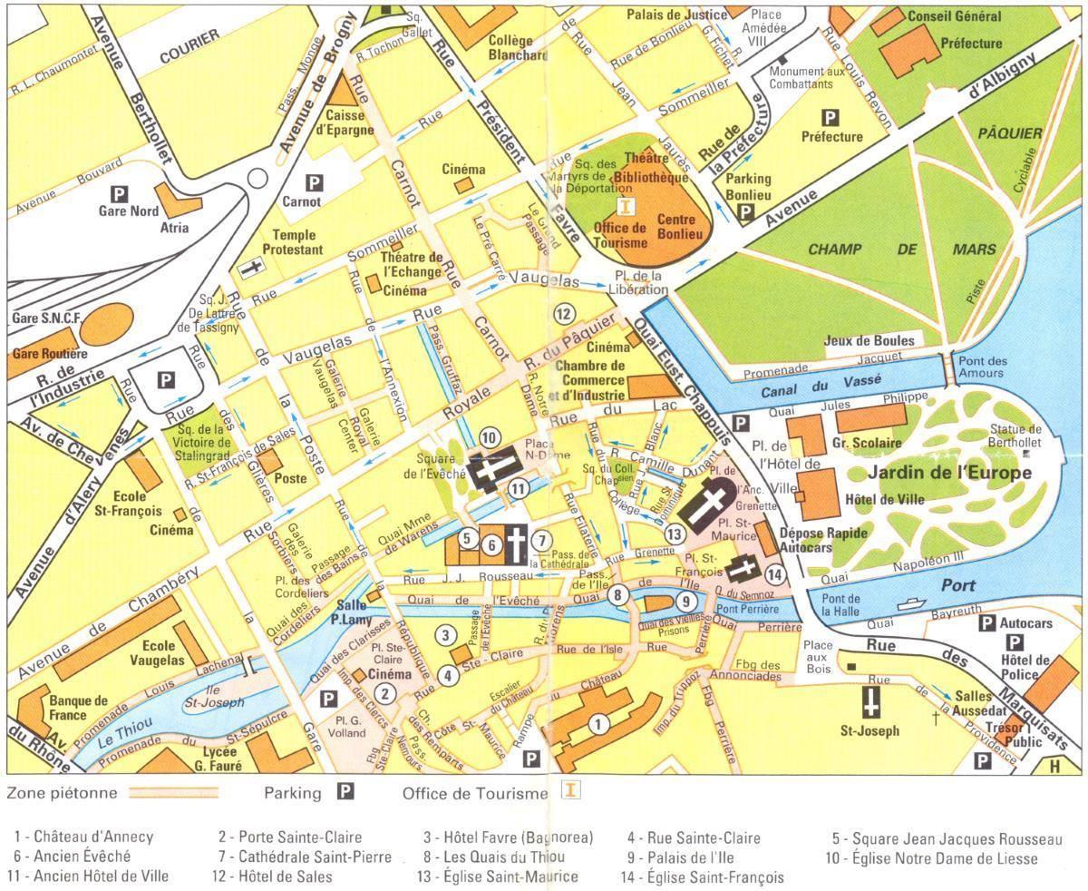 Mapa Annecy Plano De Annecy