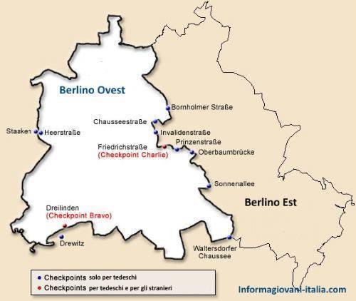 Pianta Muro Berlino : Muro di berlino nascita storia e caduta del