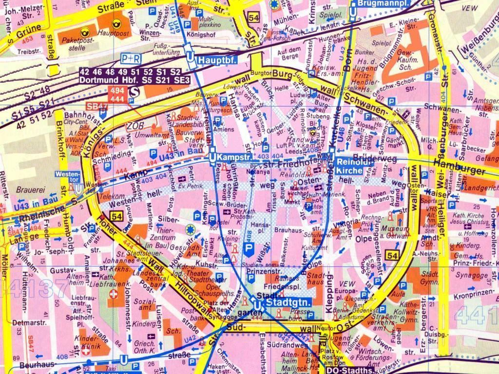 Dortmund Germania Cartina.Mappa Di Dortmund Cartina Di Dortmund
