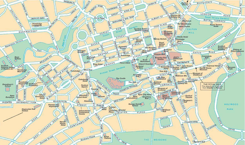 Cartina Scozia Pdf.Mappa Di Edimburgo Cartina Di Edimburgo