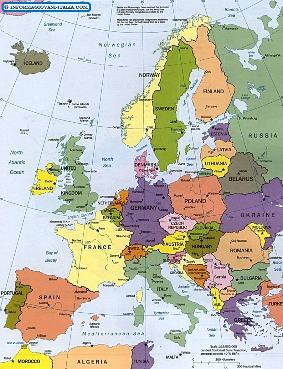 Mappa Dell Europa Cartina Dell Europa