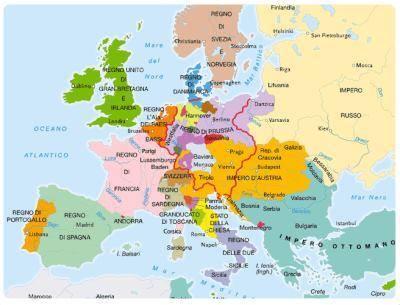 Cartina Dell Italia 1815.Congresso Di Vienna