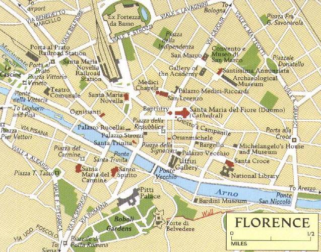 Cartina Firenze Centro.Mappa Di Firenze Cartina Di Firenze