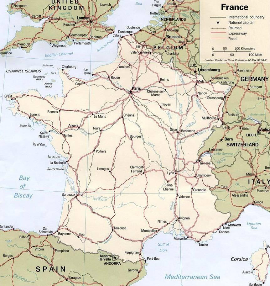 Foto Della Cartina Della Francia.Mappa Della Francia Cartina Della Francia