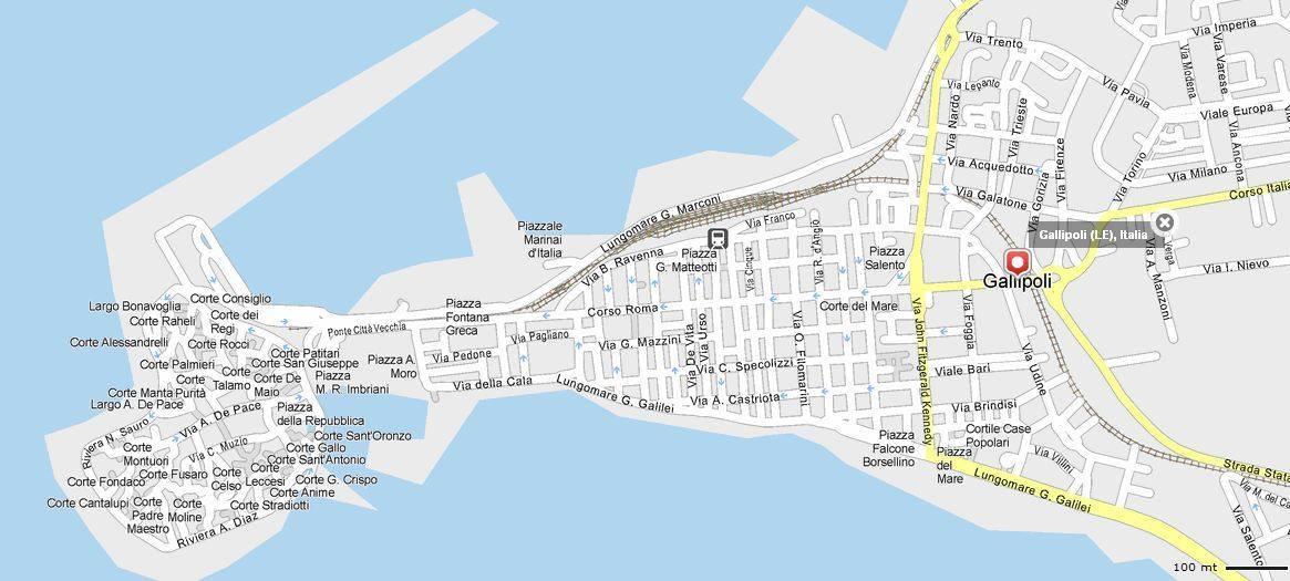 Gallipoli Cartina Italia.Mappa Gallipoli Cartina Di Gallipoli