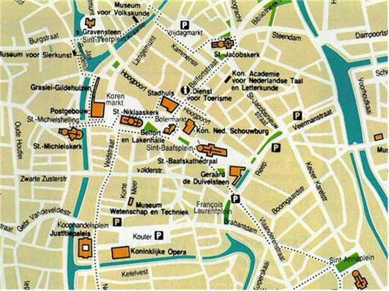 Karte Von Ghent Stadtplan Ghent