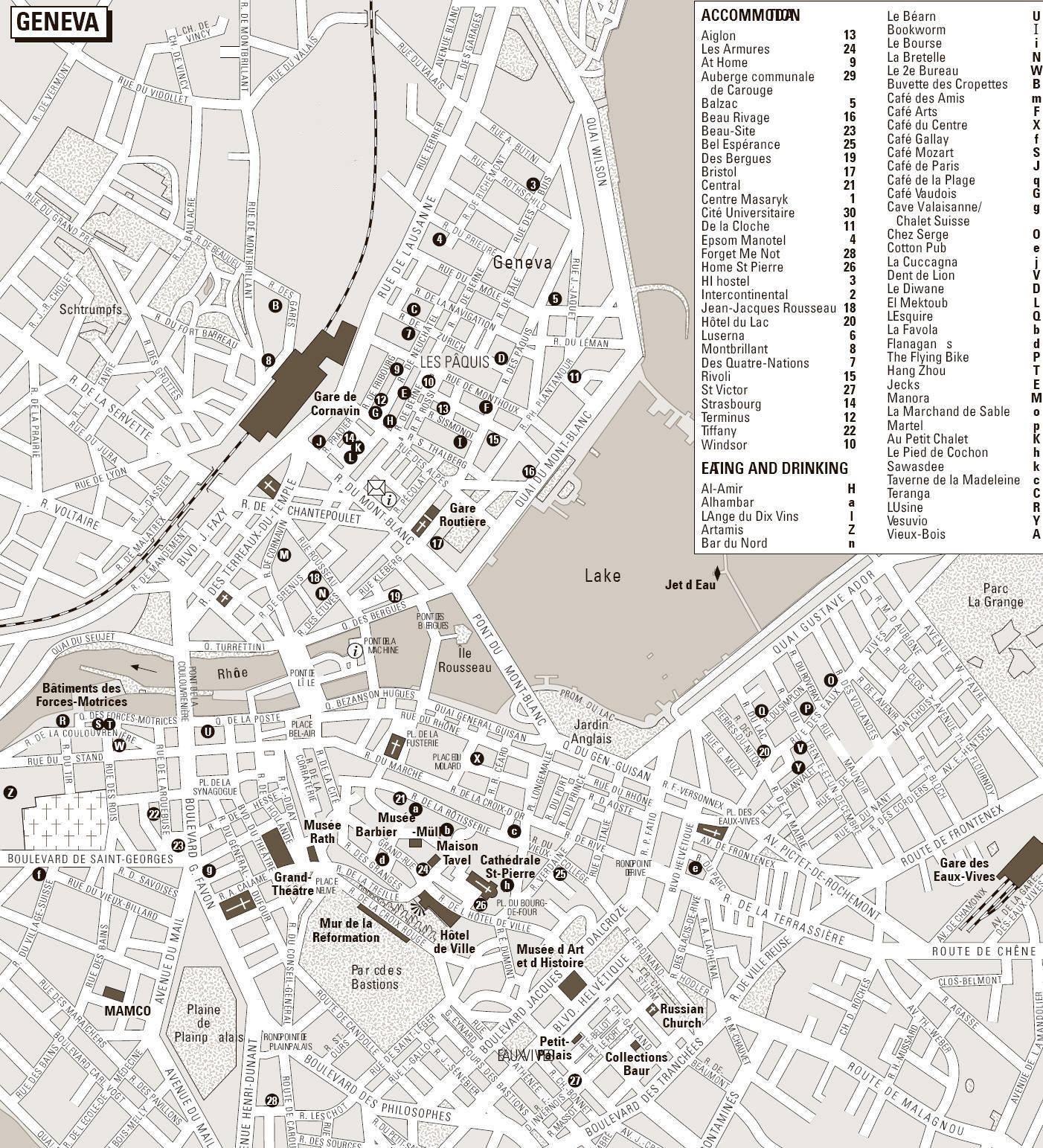Cartina Stradale Svizzera Pdf.Mappa Di Ginevra Cartina Di Ginevra