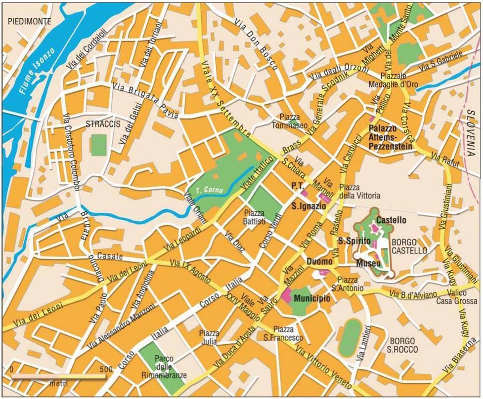 Cartina Italia Anno 500.Mappa Di Gorizia Cartina Di Gorizia