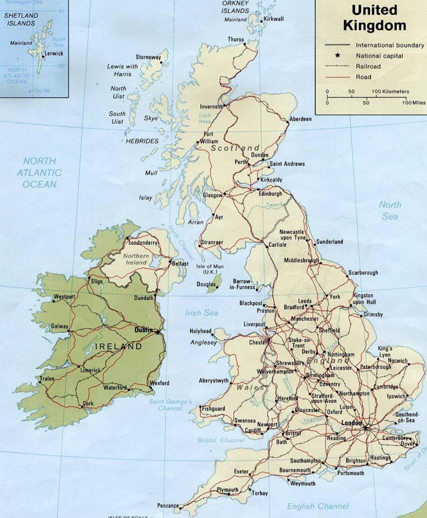 Cartina Inghilterra E Scozia.Mappa Della Gran Bretagna Cartina Della Gran Bretagna