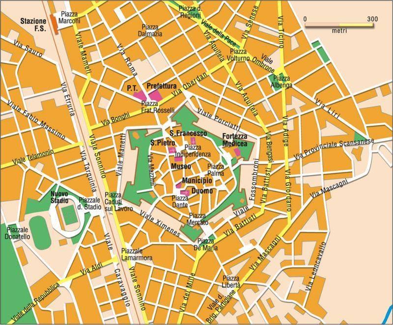Carte Italie Grosseto.Carte Grosseto Plan De Grosseto