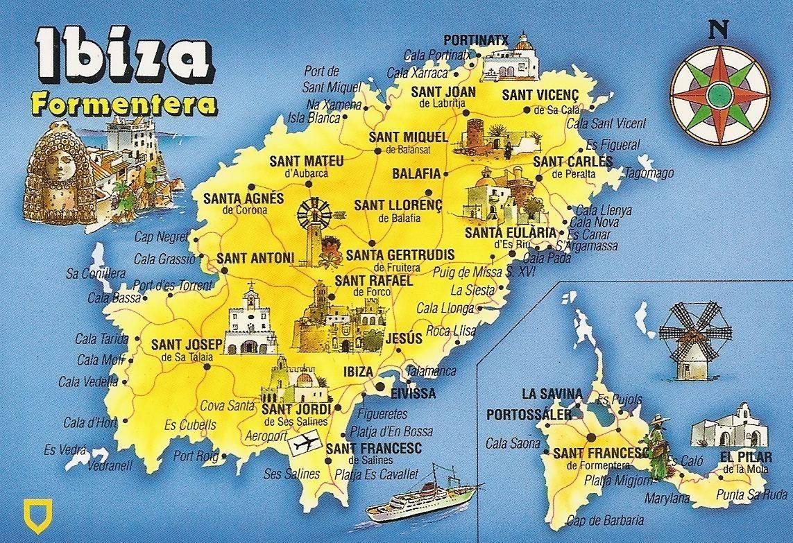 Cartina Geografica Spagna E Formentera.Mappa Ibiza Cartina Di Ibiza
