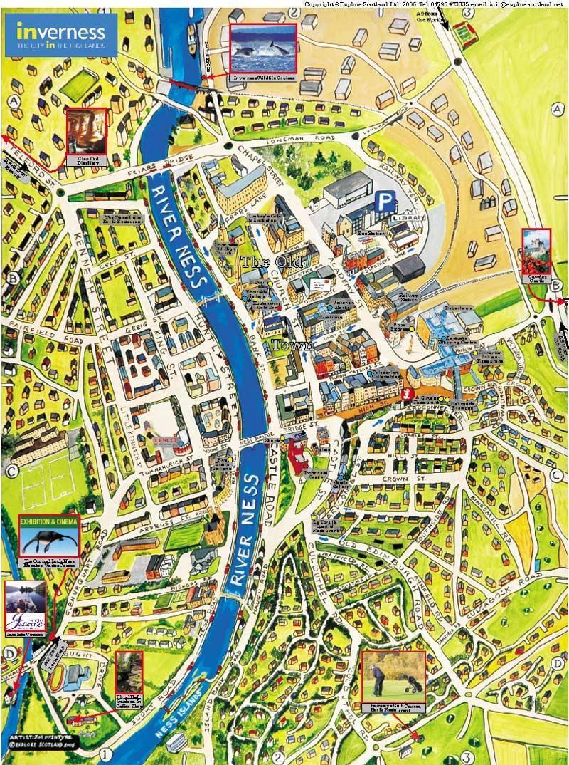 Karte Von Inverness Stadtplan Inverness
