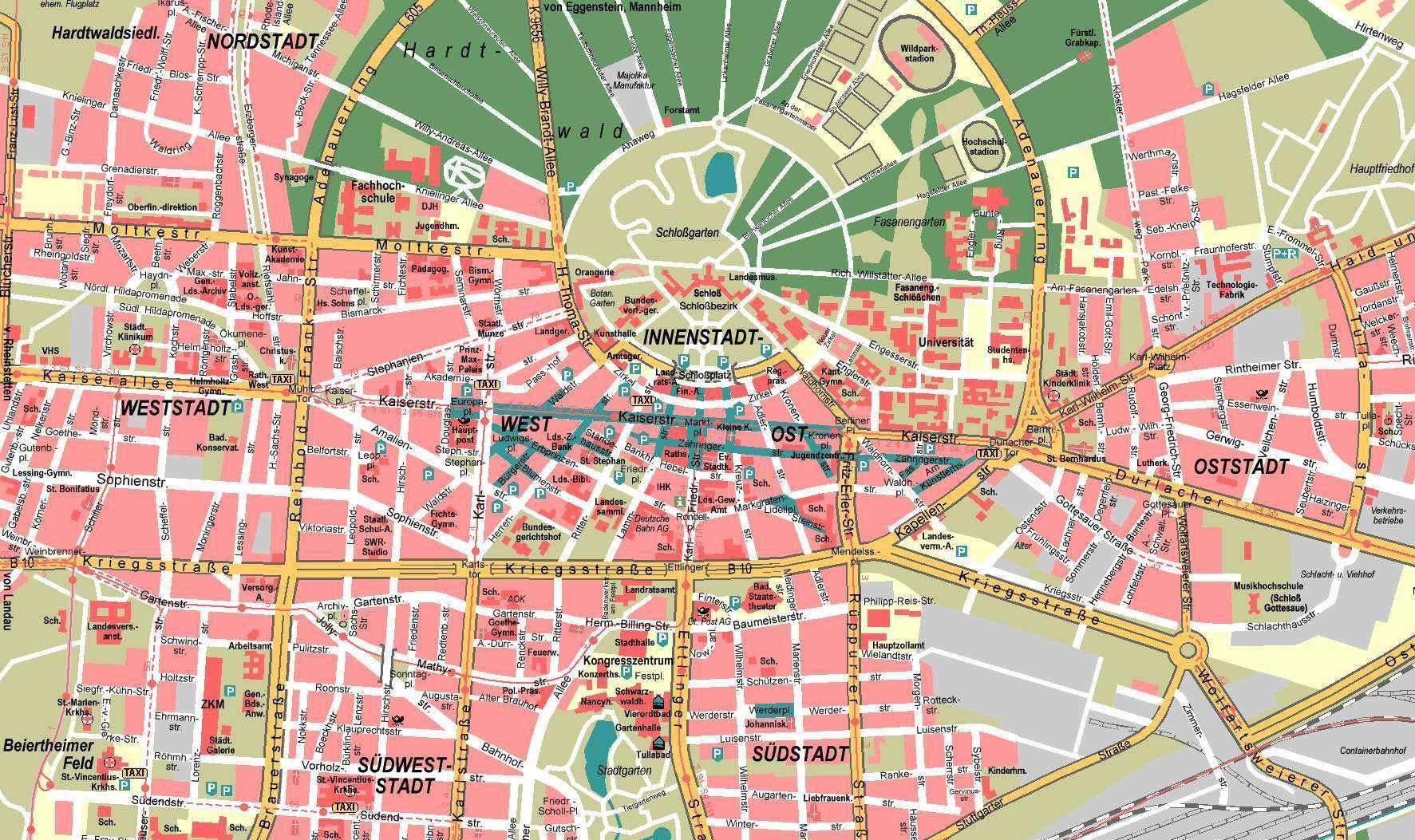 Map Of Karlsruhe