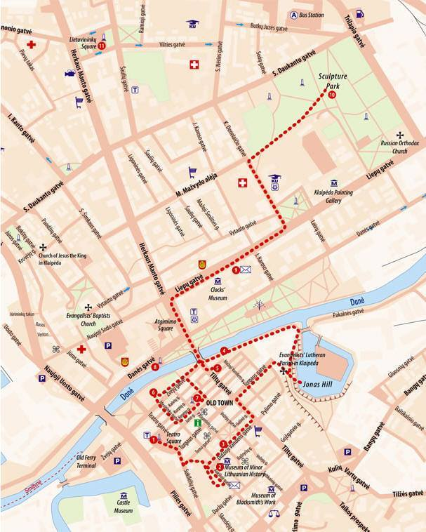 Karte von Klaipeda - Stadtplan Klaipeda