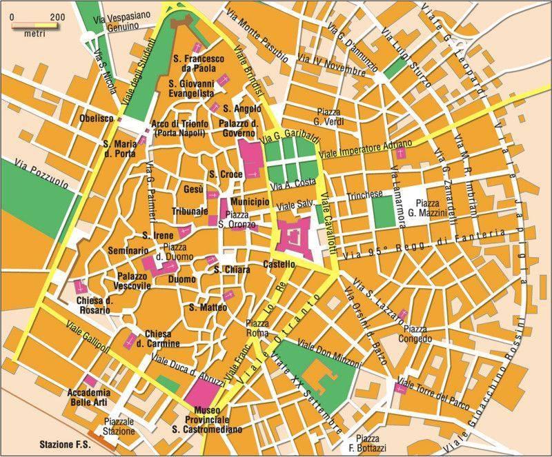 Carte Lecce Plan De Lecce