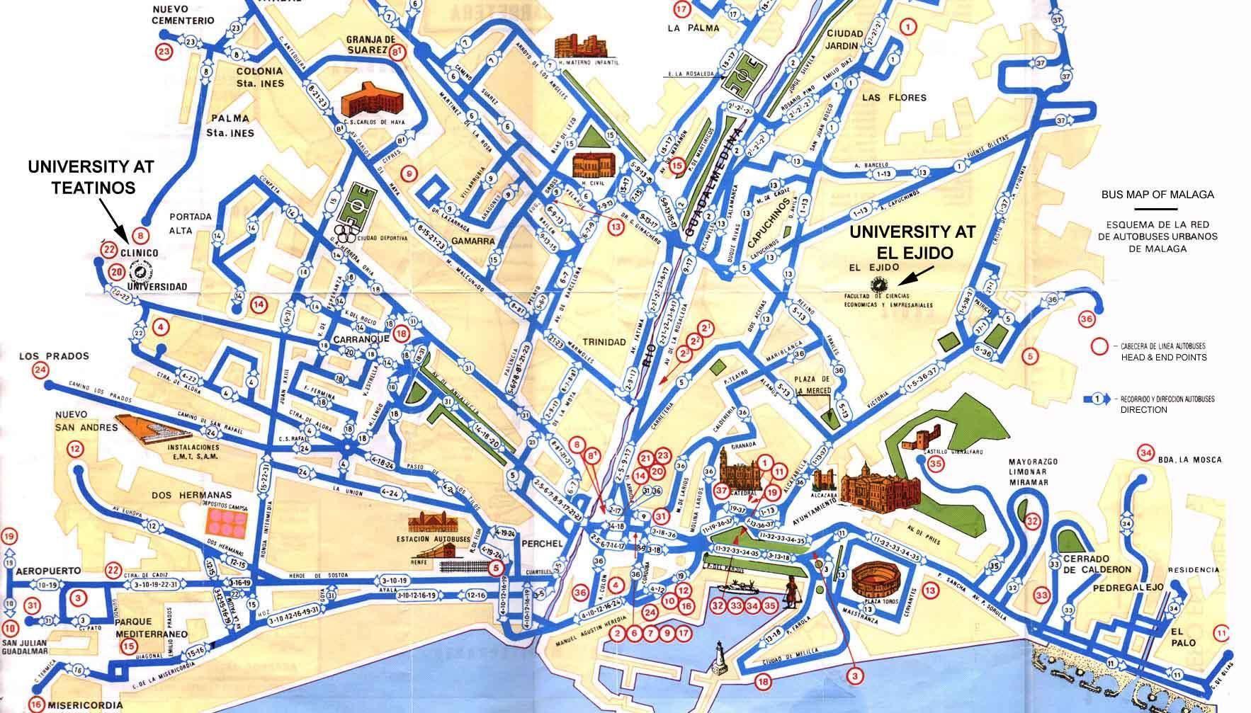 Mappa Di Malaga Cartina Di Malaga