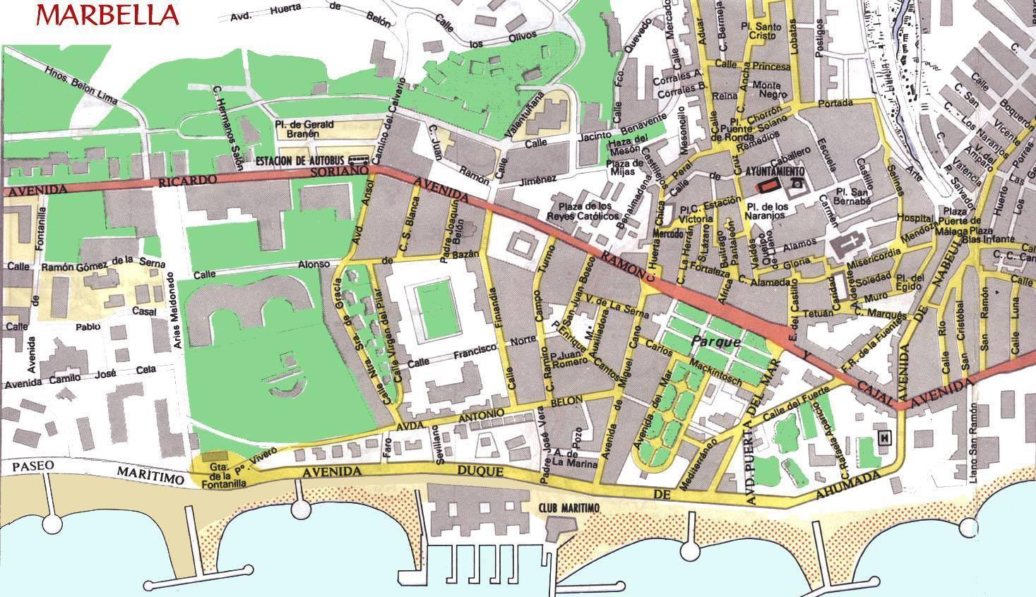 Cartina Spagna Marbella.Mappa Di Marbella Cartina Di Marbella