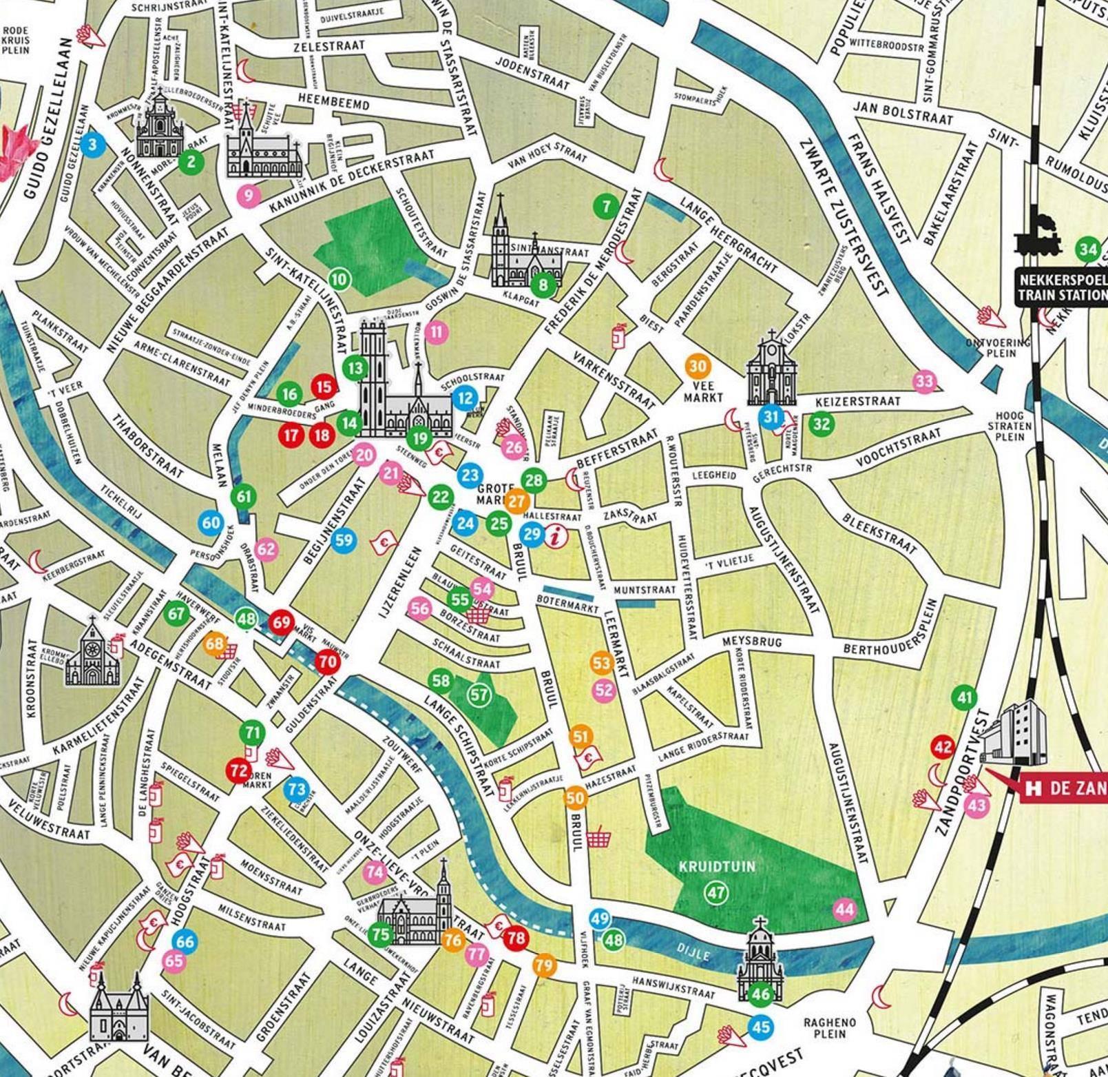Mapa Mechelen Mapa Gante