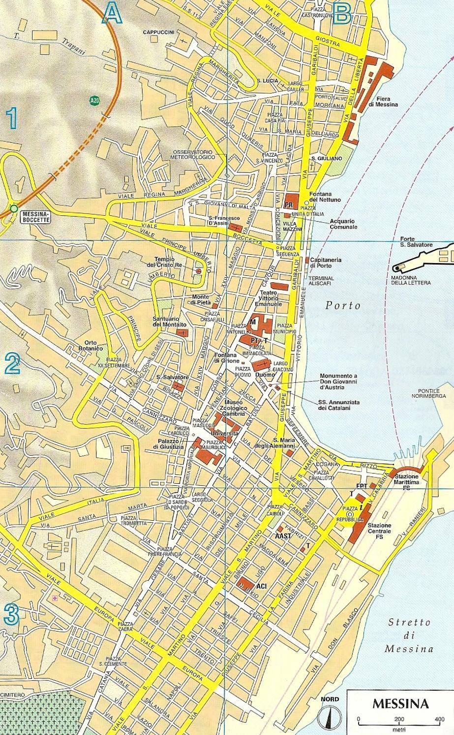 Map of Messina